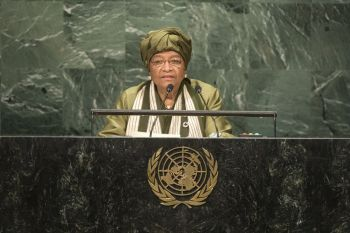 President Sirleaf addresses the 71st Session of the UN General Assembly